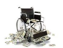 Die hohen Kosten der medizinischen Behandlung Stockbild