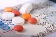 Die hohen Kosten von Gesundheitspflege Stockfotos