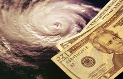 Die hohen Kosten von Hurrikanen lizenzfreie stockfotos