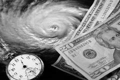 Die hohen Kosten von Hurrikanen stockfotos