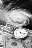 Die hohen Kosten von Hurrikanen stockbild