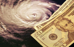 Die hohen Kosten von Hurrikanen lizenzfreies stockfoto