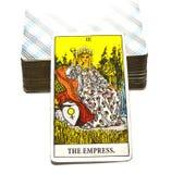 Die Hohepriesterin-Tarock-Karte SuaThe-Kaiserin-Tarock-Karten-Mutter, die Mutter Erden-Frau weibliches Archetbconscious, Hoch-Sel Stockbild