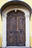 Die Holztür in der barocken Art Stockbild