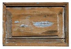 Die Holzverkleidung der alten Retro- rustikalen Tür wird mit Cr bedeckt Lizenzfreie Stockfotografie