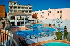 Die Hotelansicht in Ägypten Stockfotos