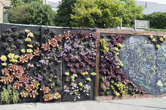 Die hörende Wand, ein Gemeinschaftsprojekt in Margate, Kent Stockbilder