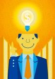 Die Idee, Geld zu verdienen Stockfoto
