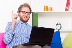 Die Idee von †‹â€ ‹, das mit einem Computer arbeitet Lizenzfreies Stockfoto