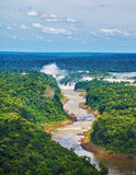Die Iguaçu-Wasserfälle Lizenzfreies Stockfoto