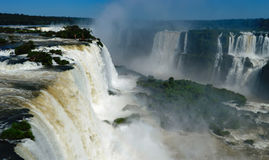 Die Iguaçu-Wasserfälle Brasilien Argentinien Paraguay Stockfoto