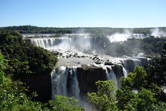 Die Iguaçu-Wasserfälle - Brasilien-Seite Lizenzfreies Stockbild