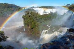 Die Iguaçu-Wasserfälle in Südamerika Stockbild