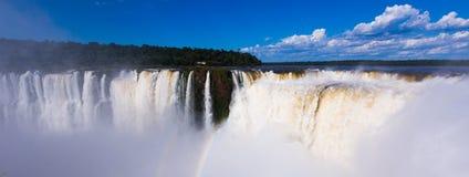 Die Iguaçu-Wasserfälle System Lizenzfreie Stockfotos