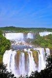 Die Iguaçu-Wasserfälle auf der brasilianischen Seite Lizenzfreie Stockbilder