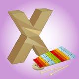 Die Ikone des Alphabetes x, die für irgendwelche groß ist, verwenden Vektor eps10 stock abbildung