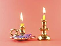 Die Ikone vor Kerze. Stockfotos
