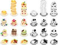 Die Ikonen des Pfannkuchens Stockfotos