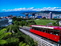 Die ikonenhafte Wellington-Drahtseilbahn, Neuseeland lizenzfreies stockfoto