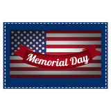 Die Illustration auf Memorial Day Lizenzfreies Stockbild