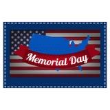 Die Illustration auf Memorial Day Lizenzfreie Stockfotografie