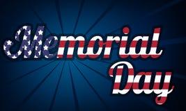 Die Illustration auf Memorial Day Lizenzfreie Stockbilder