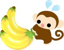 Die Illustration des hübschen Affen Stockbilder