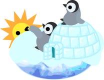 Die Illustration des hübschen Pinguinbabys Lizenzfreie Stockbilder