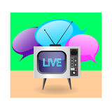 Die Illustration eines Retro- Fernsehers Stockbilder