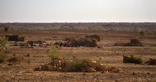 Die indische Landwirtschaft in den Vorbergen ist sehr schwierig lizenzfreies stockbild