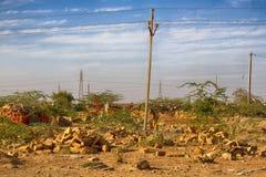 Die indische Landwirtschaft in den Vorbergen ist sehr schwierig stockfoto