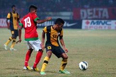 Die indonesische Nationalmannschaft U-19 stockfotografie