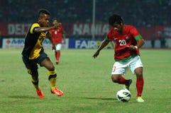 Die indonesische Nationalmannschaft U-19 stockfotos