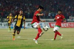 Die indonesische Nationalmannschaft U-19 stockbild