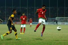 Die indonesische Nationalmannschaft U-19 stockfoto