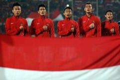 Die indonesische Nationalmannschaft U-19 stockbilder