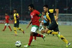 Die indonesische Nationalmannschaft U-19 lizenzfreie stockbilder