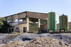 Die industrielle Grube von Spanien stockbilder