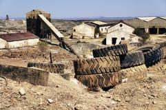 Die industrielle Grube von Spanien lizenzfreies stockfoto