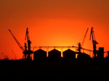 Die industrielle Landschaft Stockbilder