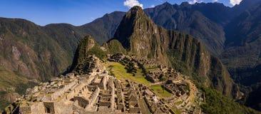 Die Inkastadt von Machu Picchu lizenzfreie stockfotos