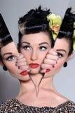 Gespaltene Persönlichkeit - im zwei Sinneskonzept Stockfoto