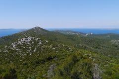 Die Insel Ugljan im Mittelmeer Lizenzfreies Stockbild