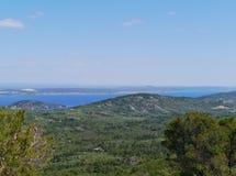 Die Insel Ugljan im Mittelmeer Lizenzfreie Stockfotos