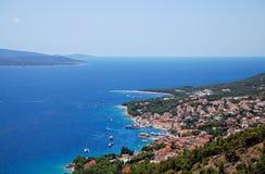Die Insel von Brac in Kroatien stockbild