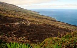 Die Insel von Fogo-Küstenlinie Stockbilder