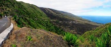 Die Insel von Fogo-Küstenlinie Stockfotos