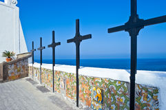 Die Insel von Ischia lizenzfreie stockbilder