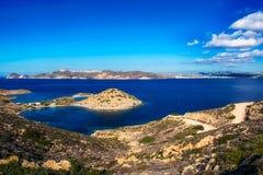 Die Insel von Milos stockfotos