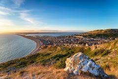 Die Insel von Portland in Dorset Stockfoto